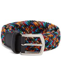 Andersons - Strtch Woven Multi Col Belt - Lyst