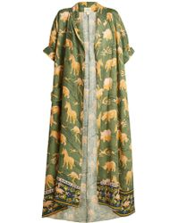 Chufy - Safari-print Linen Robe - Lyst