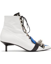 Marques'Almeida - Studded Lace-up Leather Ankle Boots - Lyst