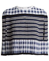 Sonia Rykiel - Pleated Knitted Gingham Cape - Lyst