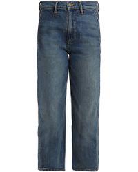 Vince - Straight-leg Stretch-denim Cropped Jeans - Lyst