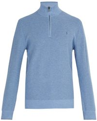 Polo Ralph Lauren - Logo Embroidered Cotton Sweater - Lyst
