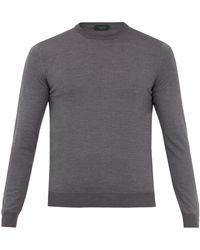 Zanone - Crew-neck Flex Wool-knit Sweater - Lyst
