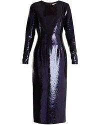 Diane von Furstenberg - Round-neck Sequin-embellished Dress - Lyst