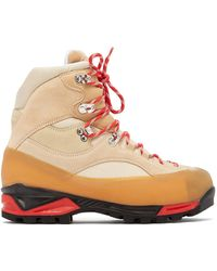 Ganni - Sarai High-top Suede Hiking Boots - Lyst