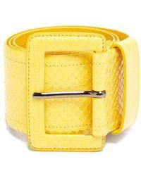 Carolina Herrera - - Watersnake Waist Belt - Womens - Yellow - Lyst
