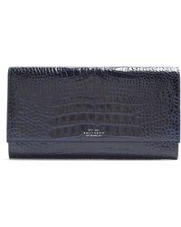 Smythson - Mara Marshall Crocodile Effect Leather Wallet - Lyst