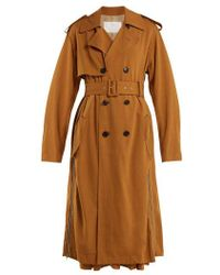 Toga - Double-breasted Side-zip Trench Coat - Lyst