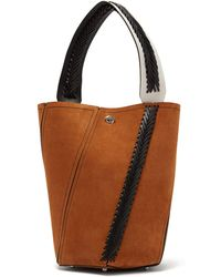 Proenza Schouler - Hex Braided Leather Suede Bucket Bag - Lyst