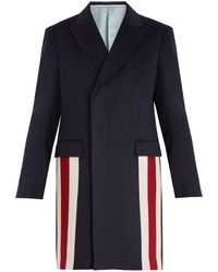 Gucci | Striped-detail Cashmere-blend Coat | Lyst