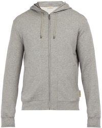 Zimmerli - Stretch Cotton Melange Hooded Sweatshirt - Lyst