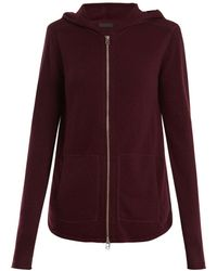 ATM - Zip Through Wool And Cashmere Blend Sweater - Lyst