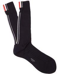 Thom Browne - Striped Cotton Socks - Lyst