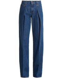 RED Valentino - Pleated Wide Leg Jeans - Lyst