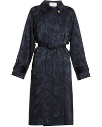 Peter Pilotto - Jacquard Satin Trench Coat - Lyst