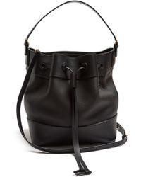 Loewe - Midnight Grained Leather Bucket Bag - Lyst