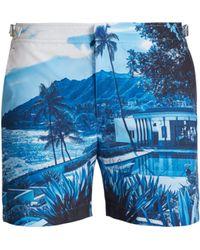Orlebar Brown Short de bain Blue View Bulldog - Bleu