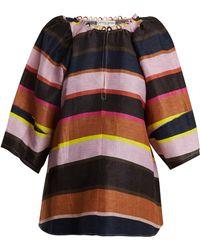 Apiece Apart - Nova Striped Linen Blend Top - Lyst