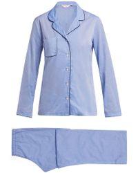 Derek Rose - Amalfi 1 Cotton Pyjamas - Lyst