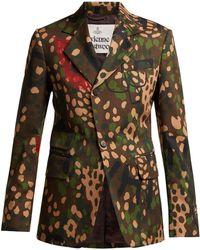 Vivienne Westwood - Camouflage-print Single-breasted Cotton Blazer - Lyst