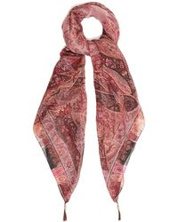 Etro - Paisley Tassel-embellished Silk Scarf - Lyst