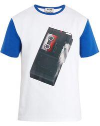 Acne   Nite Tape Recorder-print Cotton T-shirt   Lyst