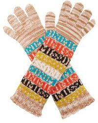 Missoni - Logo And Stripe Wool Gloves - Lyst