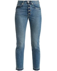 Eve Denim - Silver Bullet High Rise Straight Leg Jeans - Lyst