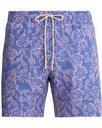 Faherty Brand - Beacon Poppy-print Swim Shorts - Lyst