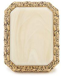 Balenciaga - Marble-effect Gold-plated Ring - Lyst