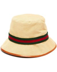 e6bb376a3 Gucci Charui Striped Wool Hat in White for Men - Lyst