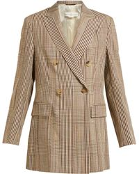 Golden Goose Deluxe Brand - Double Breasted Checked Longline Blazer - Lyst