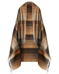 Max Mara - - Checked Blanket Scarf - Womens - Camel - Lyst