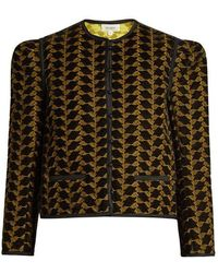 Isa Arfen - - Embroidered Velvet Jacket - Womens - Gold Multi - Lyst
