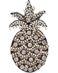 N°21 Crystal Embellished Pineapple Brooch