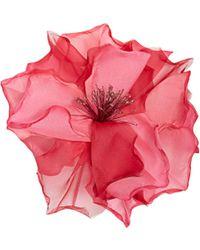 Racil - Country Flower Silk-organza Brooch - Lyst