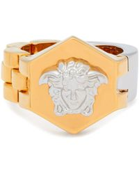 Versace - Medusa Band And Bracelet Link Ring - Lyst