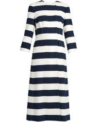 Dolce & Gabbana - Striped Coat - Lyst