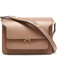 Marni - Trunk Medium Saffiano-leather Shoulder Bag - Lyst