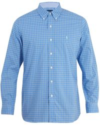 Polo Ralph Lauren - Logo-embroidered Checked Cotton Shirt - Lyst