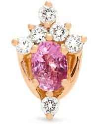 Maria Tash - Diamond, Sapphire & Rose-gold Earring - Lyst