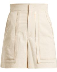 Isabel Marant   Lucky High-rise Cotton-blend Shorts   Lyst