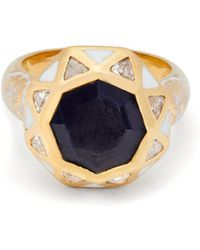 Jade Jagger - Sapphire Octagon Ring - Lyst