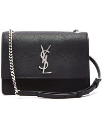 Lyst - Saint Laurent Sunset Monogram Small Leather Cross-body Bag in ... ba7e65440d401