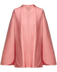 Alexander McQueen - Draped Wool And Cashmere Blend Cape - Lyst