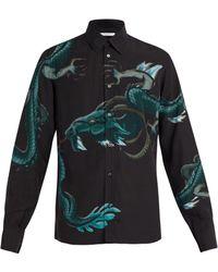 Givenchy - Dragon Print Crepe Shirt - Lyst