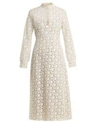 By. Bonnie Young - Long-sleeved Cotton-blend Lace Dress - Lyst