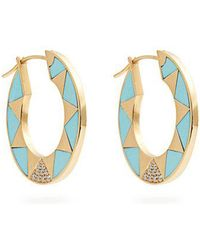 Marc Alary - - Diamond, Turquoise & Yellow Gold Earrings - Womens - Blue - Lyst