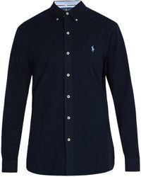 Polo Ralph Lauren - Logo-embroidered Cotton Pique Shirt - Lyst