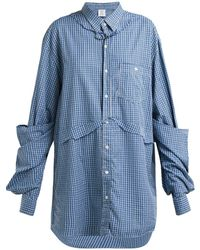 Vetements - Oversized Checked Cotton Shirt - Lyst
